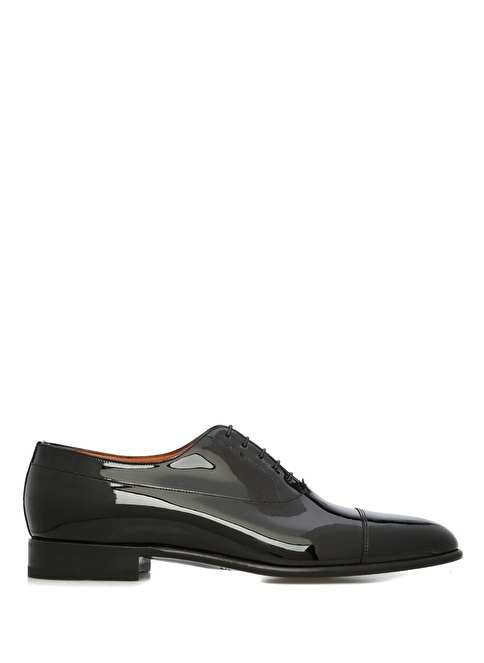 Santoni %100 Deri Bağcıklı Klasik Ayakkabı Siyah